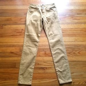 Cabi Gold Ruby Skinny Mid Rise Ankle Jeans